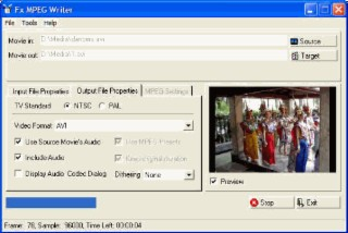 Fx MPEG Writer Screenshot