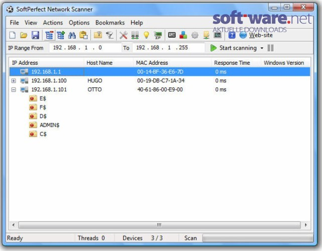 how to use softperfect network scanner