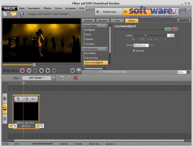 magix filme auf dvd 10 download windows deutsch bei soft ware net. Black Bedroom Furniture Sets. Home Design Ideas