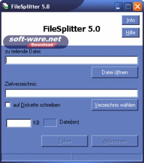 FileSplitter Screenshot