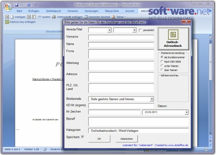 office word vorlagen system download windows deutsch