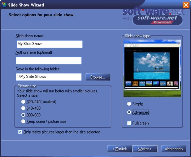 microsoft html slide show wizard download windows deutsch bei soft ware net. Black Bedroom Furniture Sets. Home Design Ideas