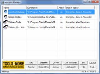 Autostart-Manager Screenshot