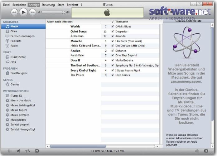 Apple iTunes (32 Bit) - Download (Windows / Deutsch) bei SOFT-WARE NET