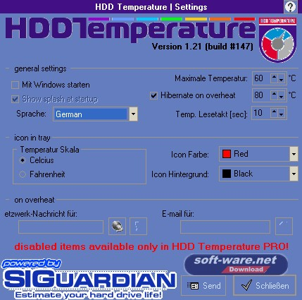 HDD Temperature Screenshot