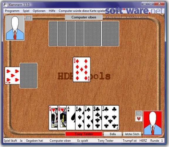 Klammern Kartenspiel