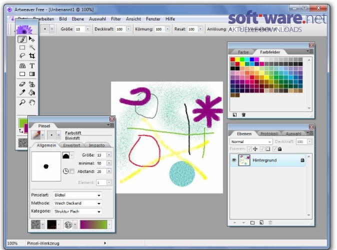 artweaver download windows deutsch bei soft ware net. Black Bedroom Furniture Sets. Home Design Ideas