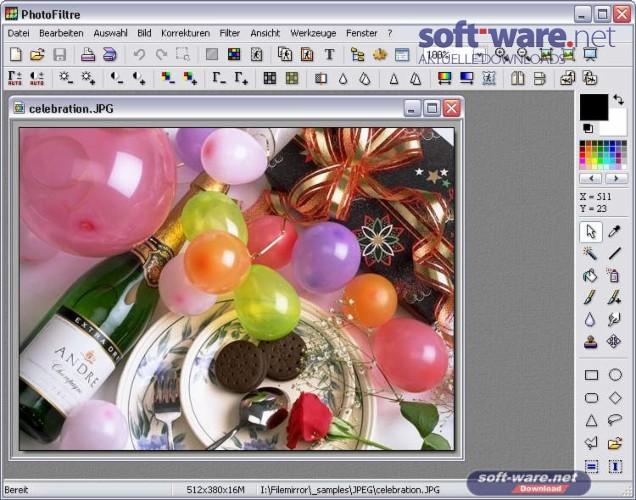 photofiltre 7 download windows deutsch bei soft ware net. Black Bedroom Furniture Sets. Home Design Ideas