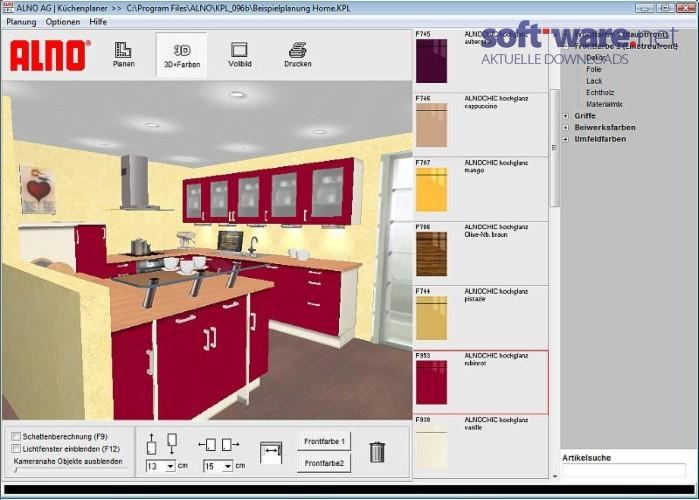 alno k chenplaner download windows deutsch bei soft ware net. Black Bedroom Furniture Sets. Home Design Ideas