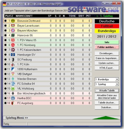 Bundesliga tabelle 2011 2012 2 0 6 download windows for Tabelle live bundesliga