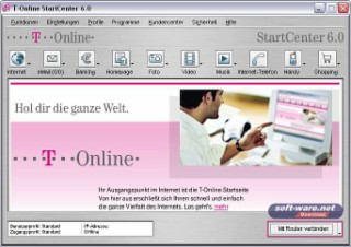 T-Online Software Screenshot
