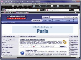 T-Online Browser Screenshot