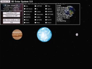 3D Solar System Screenshot
