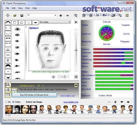 digital physiognomy download windows deutsch bei soft ware net. Black Bedroom Furniture Sets. Home Design Ideas