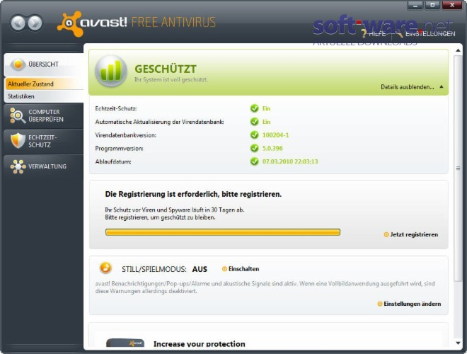 Avast Free Deutsch