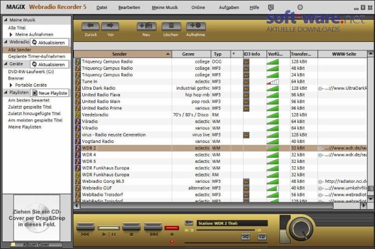 MAGIX Webradio Recorder 5.0 - Download (Windows / Deutsch