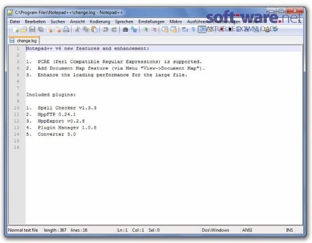 Notepad++ - Download (Windows / Deutsch) bei SOFT-WARE NET