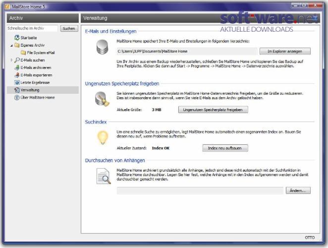 WatFile.com Download Free MailStore Home - Download (Windows Deutsch) bei SOFT-WARE NET