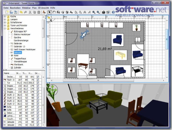 Sweet home 3d download windows deutsch bei soft ware net Sweet home 3d download
