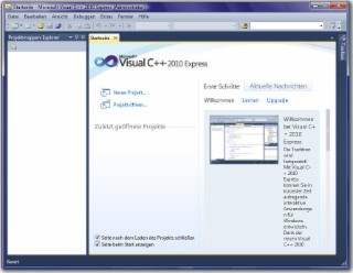 Visual C++ 2010 Screenshot