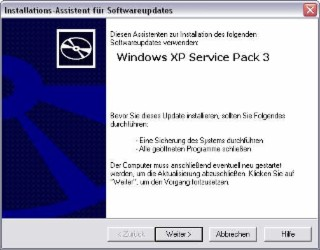 Windows XP SP3 Screenshot